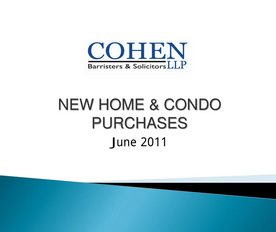 lawyers for purchasing new homes & condos