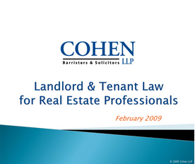 landlord and tenant law for real estate professionals
